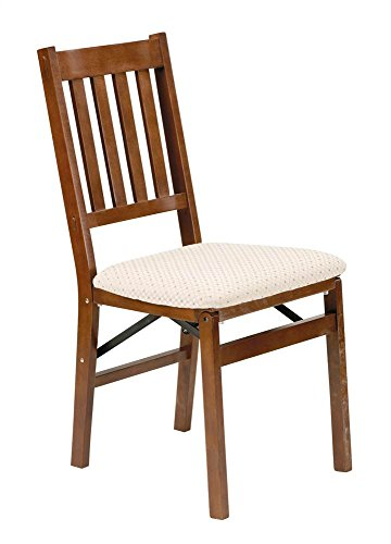 Folding Arts Crafts Dining Chair - Set of 2 (Fruitwood Stain) (35.5