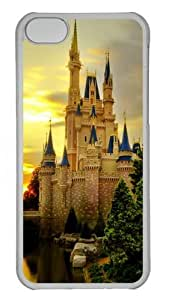 iPhone 5C Case and Cover -Cinderella Castle PC case Cover for iPhone 5C Transparent