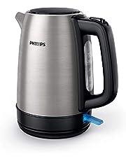 Philips Waterkoker Daily Collection - 1.7 Liter waterreservoir - Roestvrijstalen behuizing - Waterniveau indicator - Plat verwarmingselement - Verborgen snoerwikkelaar - 360 graden voet - HD9350/90