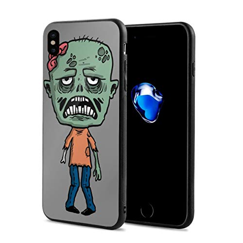 iPhone X Case Happy Halloween Funny Zombie Lightweight Anti-Fingerprint Fashion Cases Covers Compatible with iPhone X ()