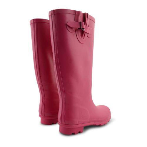 Onlineshoe Damen Womens Große Kalb Festival Regen Stiefel Pink
