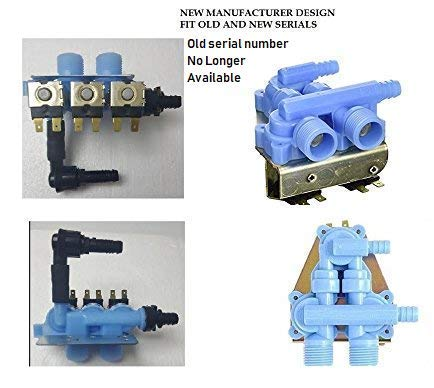 Global Products Washer Water Inlet Valve, 3 Coil Compatible with Whirlpool Kenmore 64163