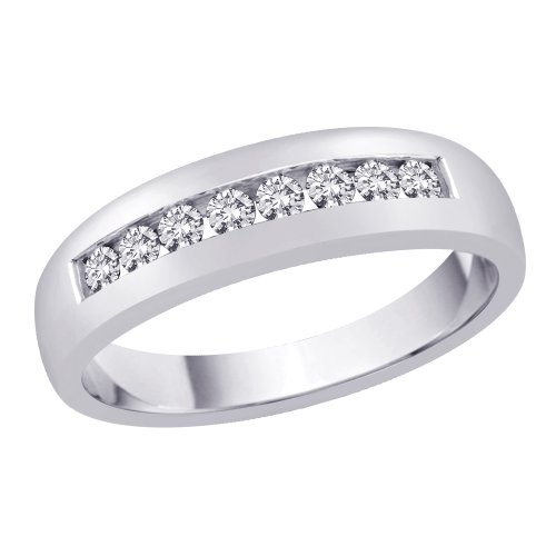 White Gold Classic Single Ring - 8