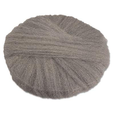 (GMT 120172 Radial Steel Wool Floor Pads, Grade #2 (Coarse): Stripping/Scrubbing, 17