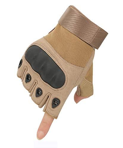 Epinki Summer Gloves Outdoor Gloves Half Finger Riding Movement Outdoor Gloves Beige Size Medium Gloves ()