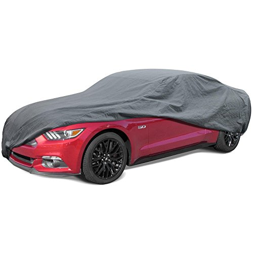 BDK Max Shield Car Cover for Ford Mustang - UV Proof, Water Repellent, Paint Safe, Breathable
