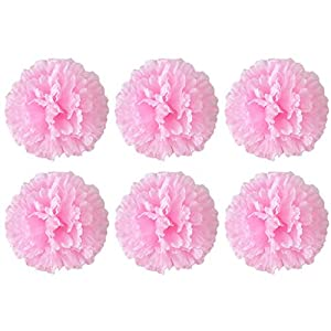 Allywit Artificial Flowers Bouquets Fake Silk Carnation Flowers for Home Wedding Party Mother's Day Decorative Gift 2