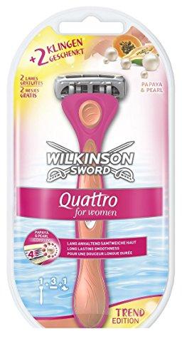 Wilkinson Sword Quattro for Women Starterset Rasierapparat mit 3 Klingen