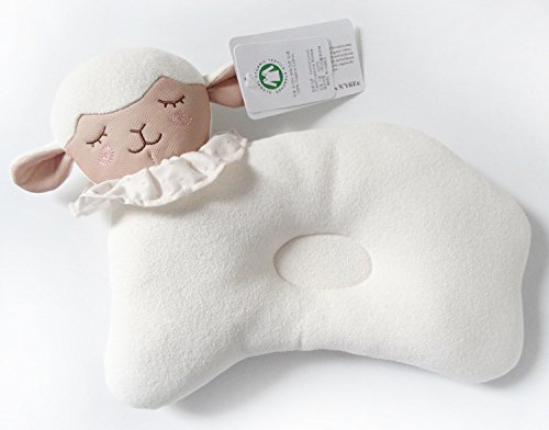 Organic Cotton Baby Head Positioner and Shaping Pillow – Helps Prevent Flat Head Syndrome (Plagiocephaly) and Provides Head and Neck Support for Your Newborn Baby (0-12 Months) (1-Pack, Little Lamb) by AnPei (Image #4)