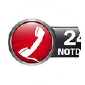 alfombrilla de ratón Etiqueta del botón - servicio de emergencia las 24 horas - ronda - 20cm