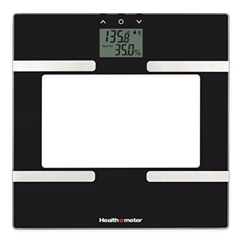 Meter Glass - Health-o-Meter BFM600KD-53 Glass Body Fat Scale, Clear/Black