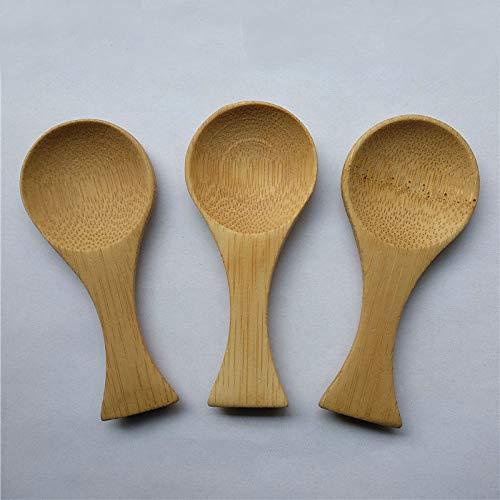 HOT - Tea Scoops - Wholesale 50pcs/lot Natural Mini Bamboo Spoon Mini Short Handle Tea Spoon - by Garlic - 1 PCs by Garlic.