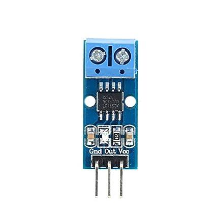 fengwen66 Tarjeta de Modo de módulo de Sensor de Corriente Hall ACS712 20A Modelo de Efecto
