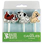 Bakery Crafts Puppy Dog Cake Candles (1-Pack of 6)