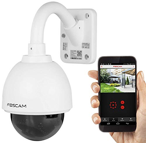 Foscam FI9828P 1280x960p Waterproof Wifi Outdoor Security Camera with 3x Optical Zoom, Pan and Tilt, Night Vision, Motion Detection(Certificated Refurbished)