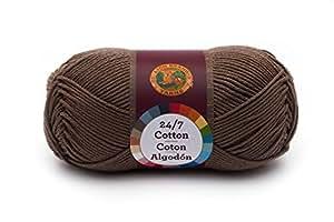 Lion Brand Yarn 761-126 24-7 Cotton Yarn, Cafe Au Lait by Lion Brand Yarn