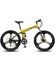 MACCE 21 دراجة جبلية قابلة للطي بثلاث عجلات 26 - لون أصفر