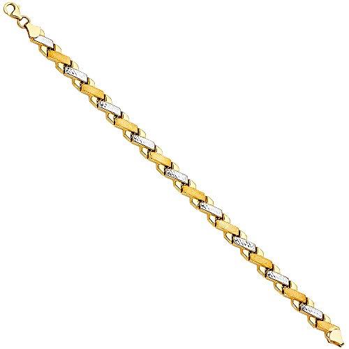 14k Two Tone Gold Stampato Bracelet - 7.25