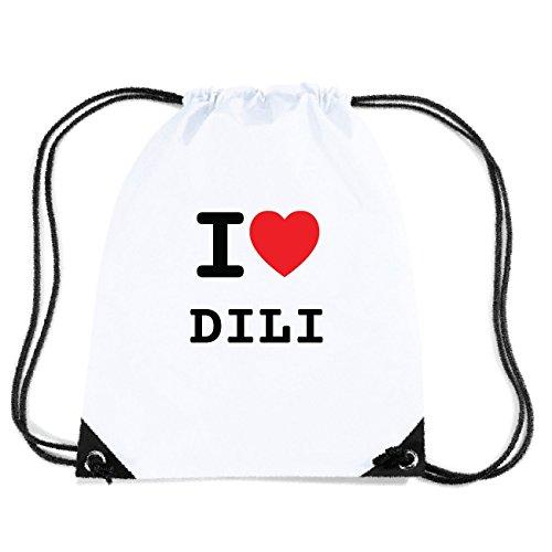 JOllify DILI Turnbeutel Tasche GYM4864 Design: I love - Ich liebe dikuLrX