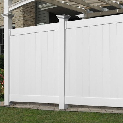 New England Arbors Flat Privacy Wall, 12u0027, White