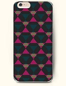 SevenArc Phone Shell New Apple iPhone 6 Plus case 5.5' -- Teal Deep Pink Black Geometric Pattern