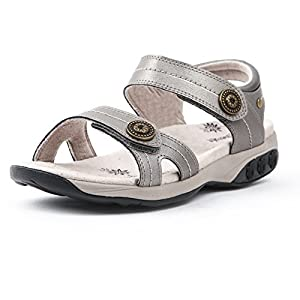 Therafit Shoe Women's Grace Leather Adjustable Walking Sandal