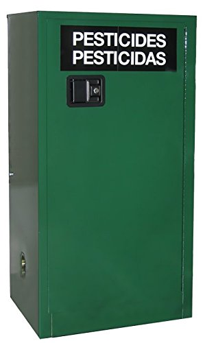 SECURALL AG130 Pesticide Storage Cabinet, 2 Door, 30 Gal Cap, 44 x 43 x 18 in, FM Approved, SMaRT Cert, OSHA Comp, NFPA, 15 YR Warranty - AG Green