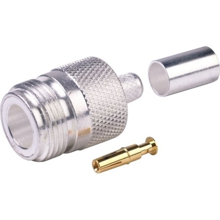 N-Female Crimp Connector - for RG8X - Belden 9258 - CommScope WBC240 - Times LMR-240 LMR240 - Andrew CNT240 - Remee 1600 - RG8x - Mini8 Coax