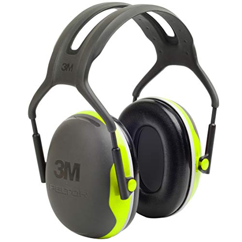 3M Personal Protective Equipment 3M Peltor X4A Over-the-Head Ear Muffs, Noise Protection, NRR 27 dB, Construction, Manufacturing, Maintenance, Automotive, Woodworking, Heavy Engineering, Mining, Chartreuse, One Size Fits Most