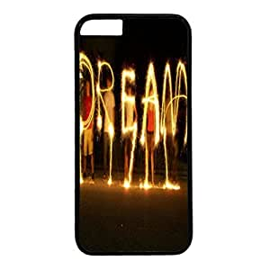 Iphone 6 case ,fashion durable black side design phone case, pc material phone cover ,with Dream art.