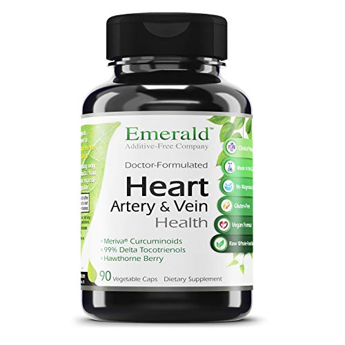 Heart, Artery & Vein Health - with Hawthorn Berry & Meriva Phytosome - High Absorption, Supports Cardiovascular Health, Helps Regulate Blood Pressure - Emerald Laboratories - 90 Vegetable Capsules
