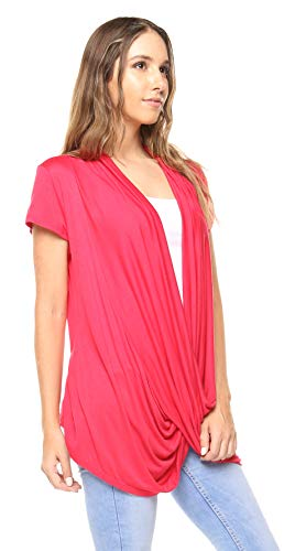 Free to Live Women's Lightweight Short Sleeve Criss Cross Pullover Nursing Top (XL, - Free Live