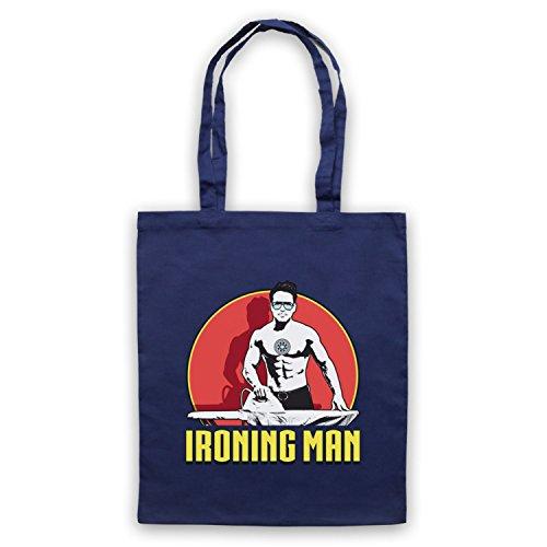 Ironing Man Iron Man Parody Bolso Azur Marino