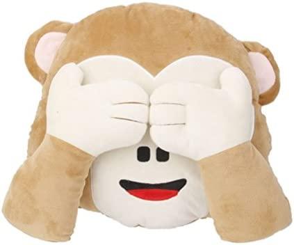 Cojines de peluche TOYMYTOY Emoticono Almohada juguetes de peluche mono (Sin Mirar)