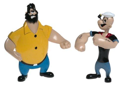 Retro Popeye Bendable Figures Set NJ Croce PBR1400 Accessory Toys /& Games