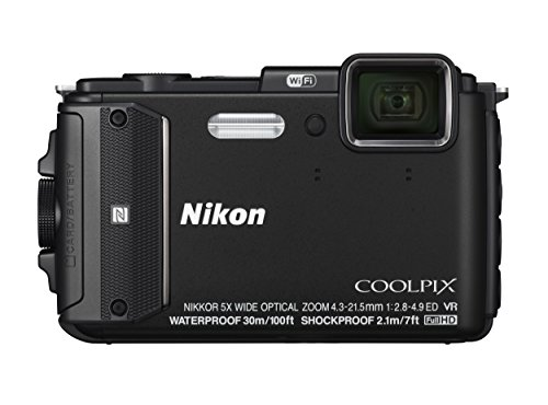Nikon COOLPIX AW130 Waterproof Digital Camera with Built-In Wi-Fi (Black)