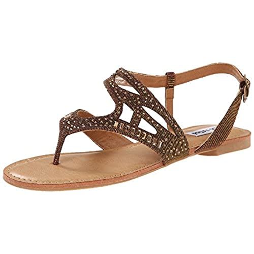 Not Rated Women's Brentwood Dress Sandal, Bronze, 7.5 M US