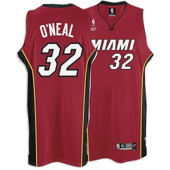 Heat Reebok Men's NBA 05-06 Alternate Swingman Jersey ( sz. XL, Red : O'Neal, Shaquille : #32: Heat )