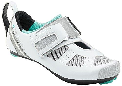 Louis Garneau Women's Tri X-Speed 3 Triathlon Bike Shoes, White/Mojito, US (9), EU (40)