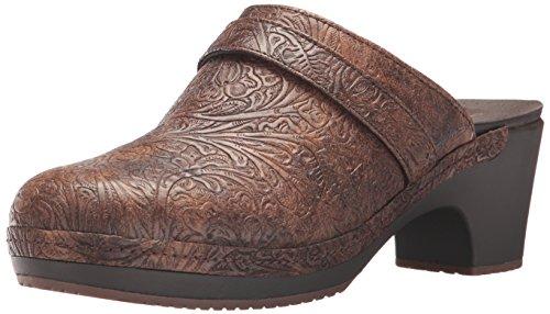 Crocs Womens Sarah Tooled Clog Brown Mule