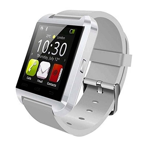 Powerlead U8 Bluetooth 4.0 Smart Wrist Wrap Watch Phone for Smartphones IOS Android Apple iphone 5/5C/5S/6/6 Puls Android Samsung S3/S4/S5 Note 2/Note 3 Note 4 HTC Sony (White)