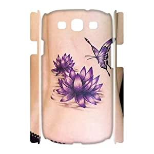 DIY tattoo 3D Phone Case, DIY 3D Case Cover for samsung galaxy s3 i9300 with tattoo (Pattern-4)