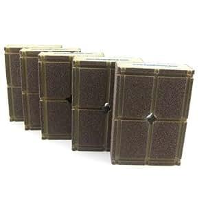 5 Pack Fine Grit, Dustless Sanding Sponge Refills