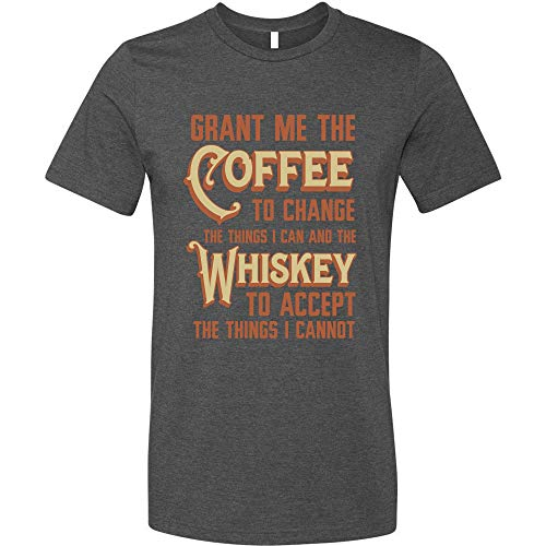GunShowTees Mens Grant Me Coffee to Change Things I Can Whiskey to Accept…Shirt