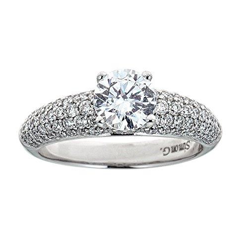 (Simon G. 18K White Gold & Diamond Engagement Ring)