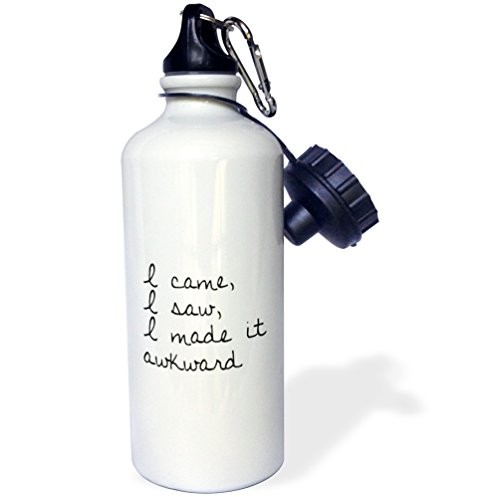 3dRose Tory Anne Collections Quotes I CAME I SAW I MADE IT AWKWARD 21 oz Sports Water Bottle (wb 232901 1)