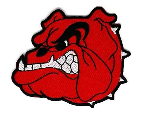 3.0 inches x 2.6 inches Red Bulldog Face