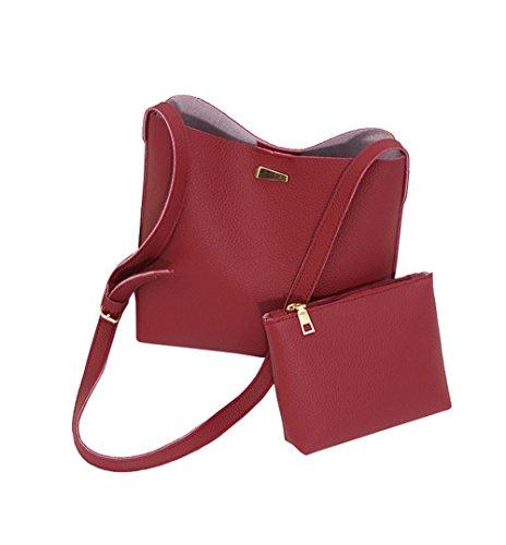 COCO clothing - Bolso bandolera Mujer Rosa rosa 24 * 8 * 25 cm Rojo
