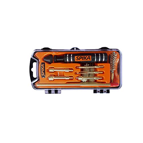 SPIKA Compact Pistol Cleaning Kit for 9mm/.357/.38 Cal.40/.41 .44/.45 Cal Hand Gun Cleaning Kit