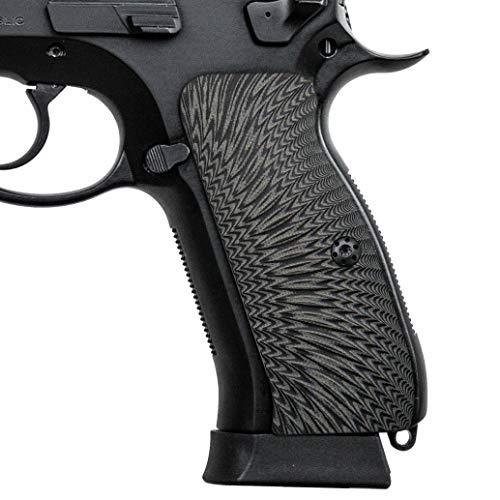 Cool Hand G10 Grips for CZ 75 Full Size, Sunburst Texture, Brand, Grey/Black